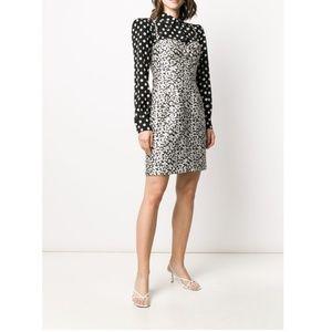 Dolce & Gabbana Black & White 1990s Daisy Dress